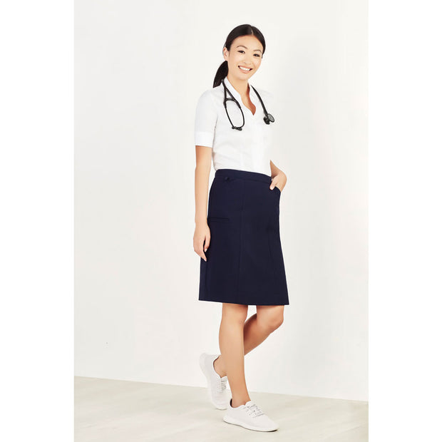 CL956LS Biz Care Womens Comfort Waist Cargo Skirt - Infectious Clothing Company