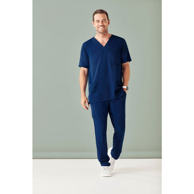CST945MS Biz Care Mens V-Neck Scrub Top - Infectious Clothing Company