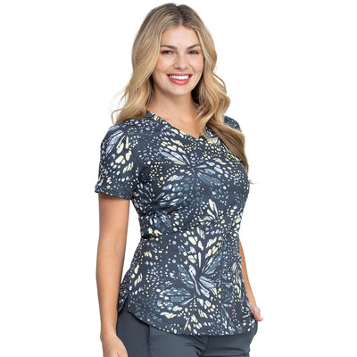 DK731 Dickies Women's Butterfly Wing Print Top