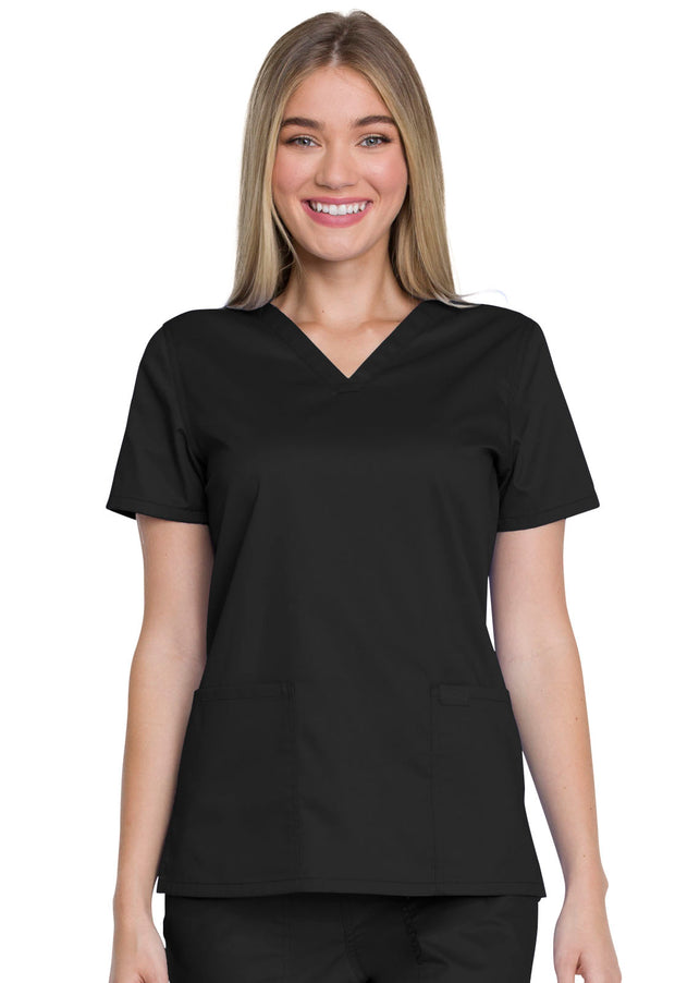 GD600 Dickies Industrial Strength Womens V-Neck Top - Infectious Clothing Company