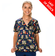 ICX20101F Infectious Clothing Women's Koala Christmas Print Top
