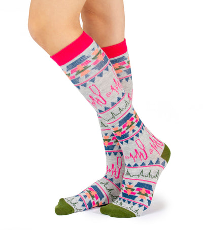 L41011 Landau Womens Nurse Pattern Compression Socks
