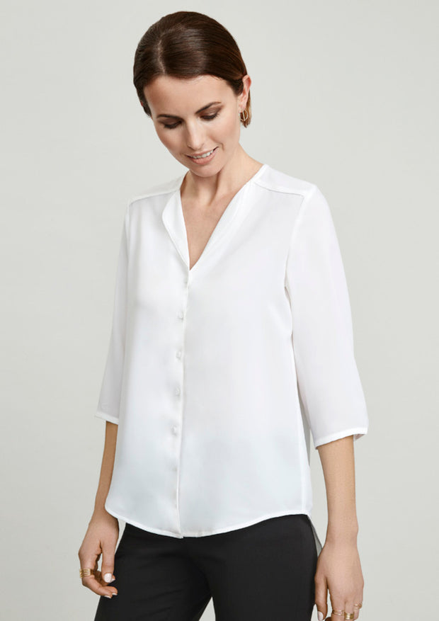 S015LT Biz Collection Lily Ladies Longline Blouse