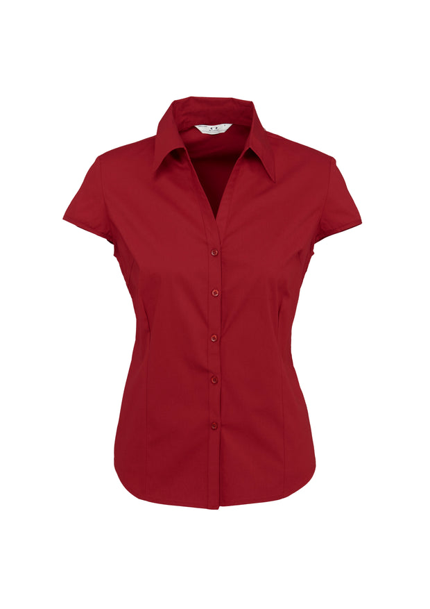 S119LN Biz Collection Ladies Metro Cap Sleeve Shirt - Infectious Clothing Company
