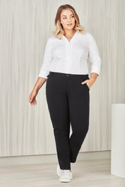 CL955LL Biz Care Womens Comfort Waist Straight Leg Pant - Infectious Clothing Company