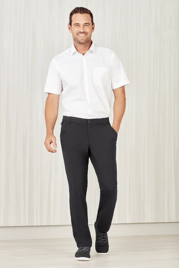 CL958ML Biz Care Mens Comfort Waist Flat Front Pant - Infectious Clothing Company