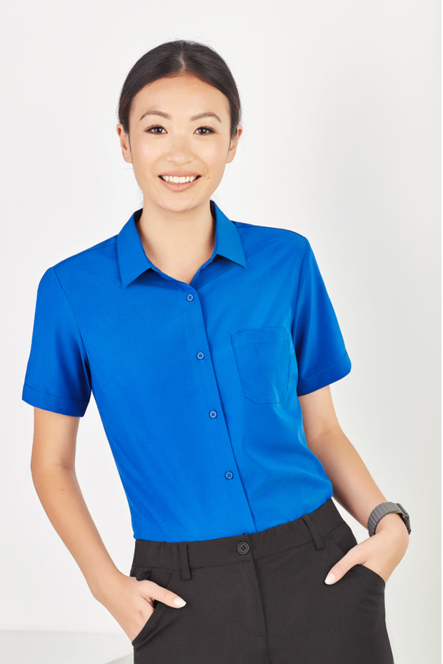 CS947LS Biz Care Womens Easy Stretch Short Sleeve Shirt - Infectious Clothing Company