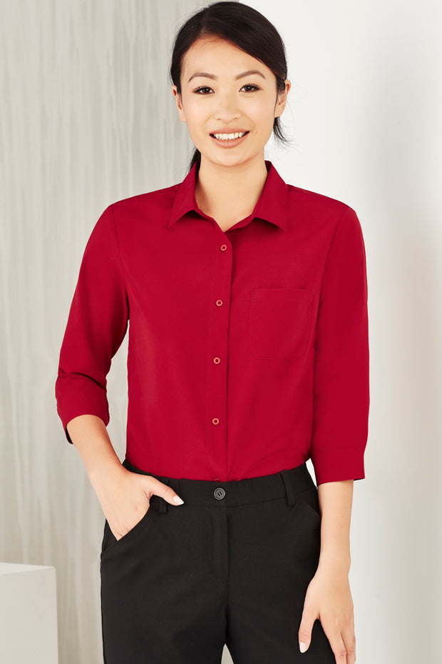 CS951LT Biz Care Womens Easy Stretch 3/4 Sleeve Shirt - Infectious Clothing Company