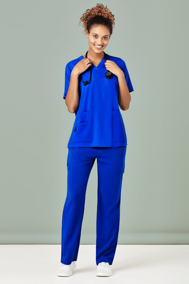 CST941LS Biz Care Womens Easy Fit V-Neck Scrub Top - Infectious Clothing Company