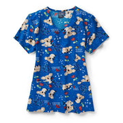 Z12213 Down Under Koala Animal Print Scrub Top