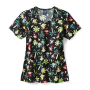 Z15202 Monkey Business Women's Print Scrub Top - Infectious Clothing Company