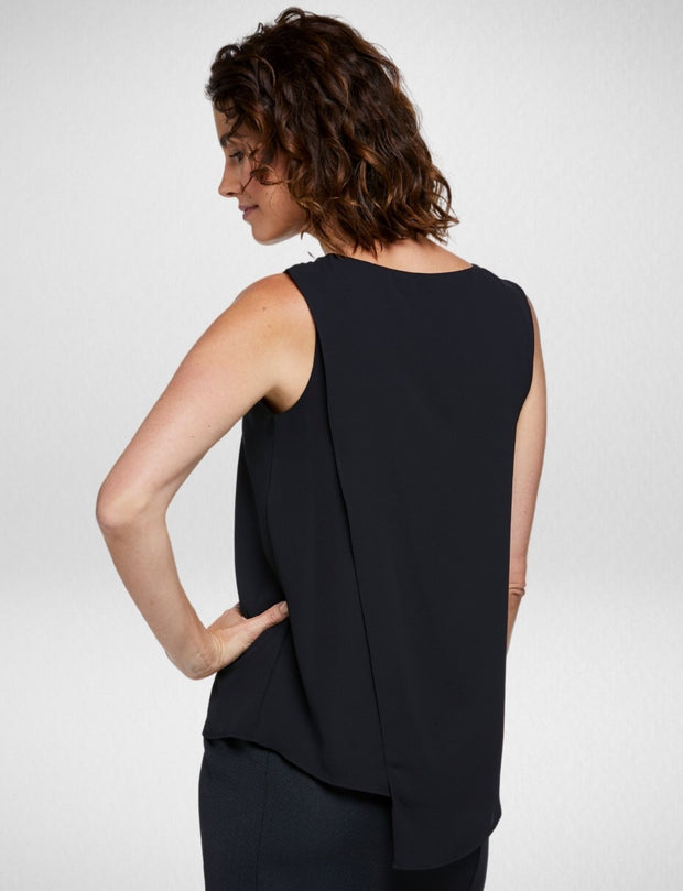 6051N81 Corporate Reflections Harmony Asymmetric Back Sleeveless Blouse