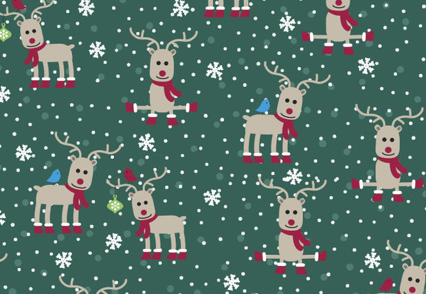 Z14202 Holly Jolly Christmas Print Nurse Scrub Printed Top - Infectious Clothing Company
