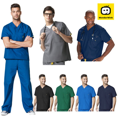 MENS Loose Fit Medical Scrub Set Nurse Doctor Hospital Top & Pant - Infectious Clothing Company