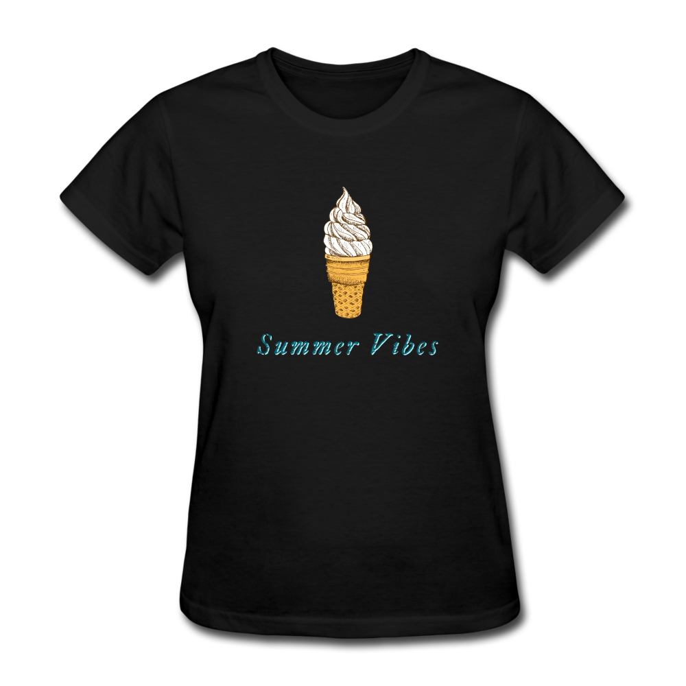 Summer Vibes Ice Cream Tee - black