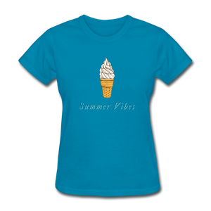 Summer Vibes Ice Cream Tee - turquoise