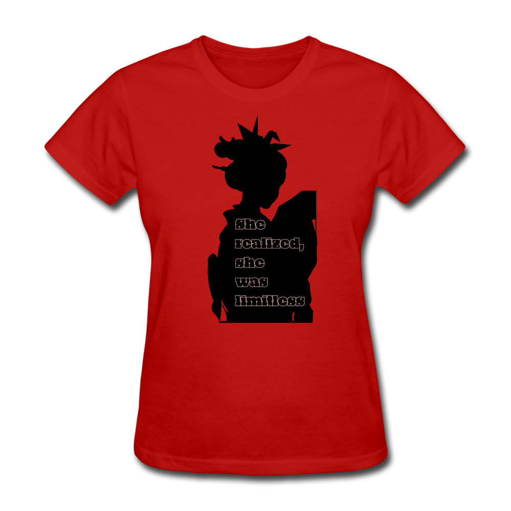 She Realized, She was Limitless Tee - red