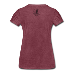 Astronaut Tee - heather burgundy
