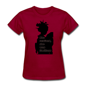 She Realized, She was Limitless Tee - dark red