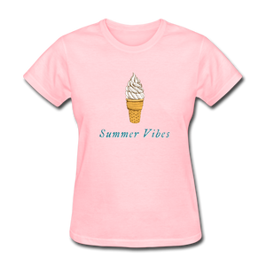 Summer Vibes Ice Cream Tee - pink