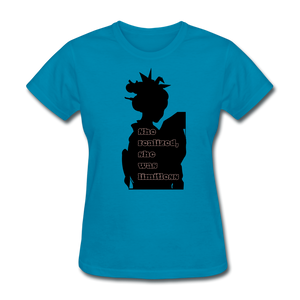 She Realized, She was Limitless Tee - turquoise