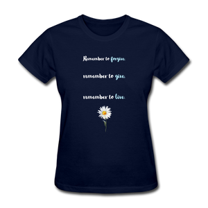 Remember to live tee - navy