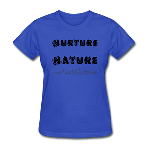 Nurture Nature Tee - royal blue