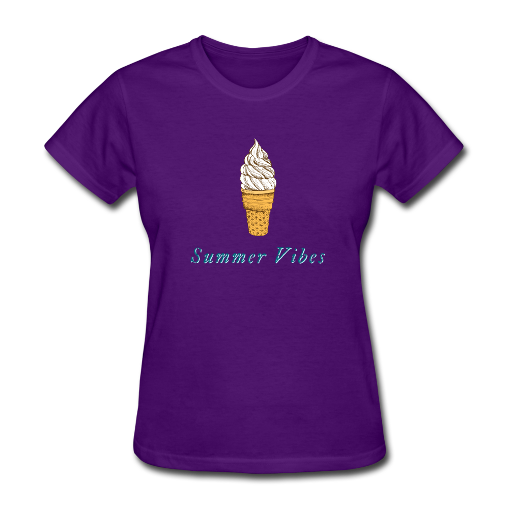 Summer Vibes Ice Cream Tee - purple