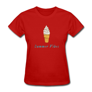 Summer Vibes Ice Cream Tee - red