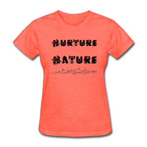 Nurture Nature Tee - heather coral