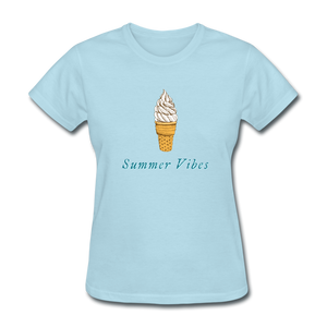 Summer Vibes Ice Cream Tee - powder blue