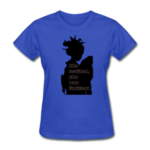 She Realized, She was Limitless Tee - royal blue