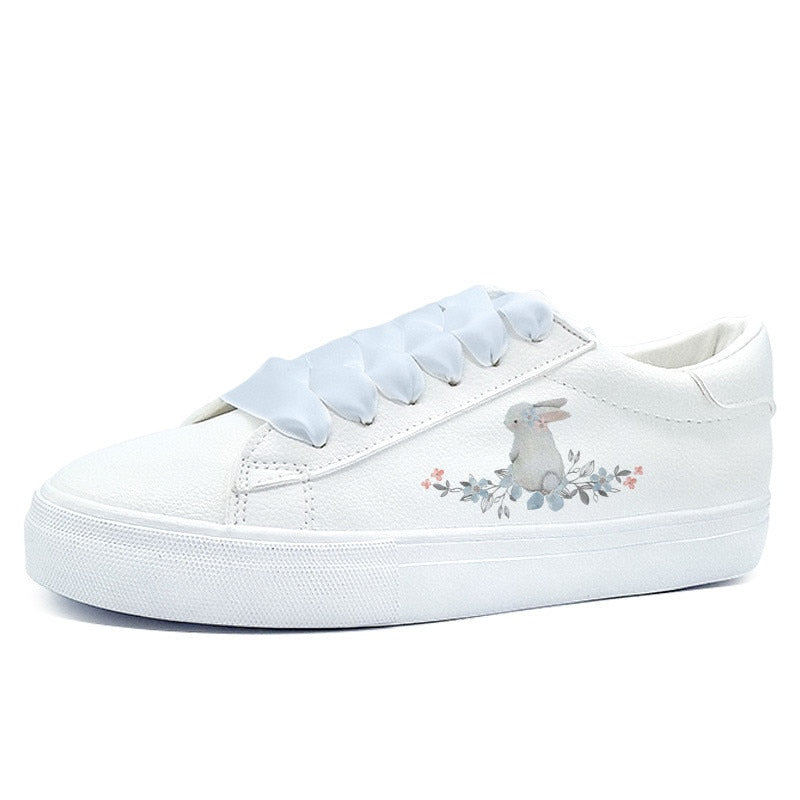 Cute Cartoon Hand Painted Platform Trainers