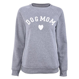 Dog Mom Velvet Sweatshirt