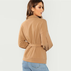 Coffee Solid Pullovers