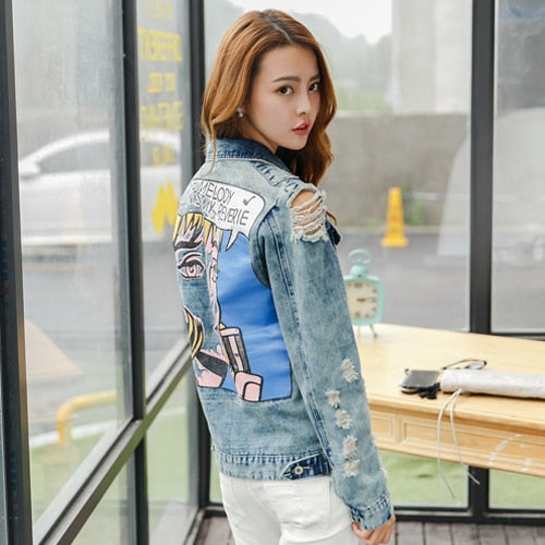 Comic Book Jean Jacket