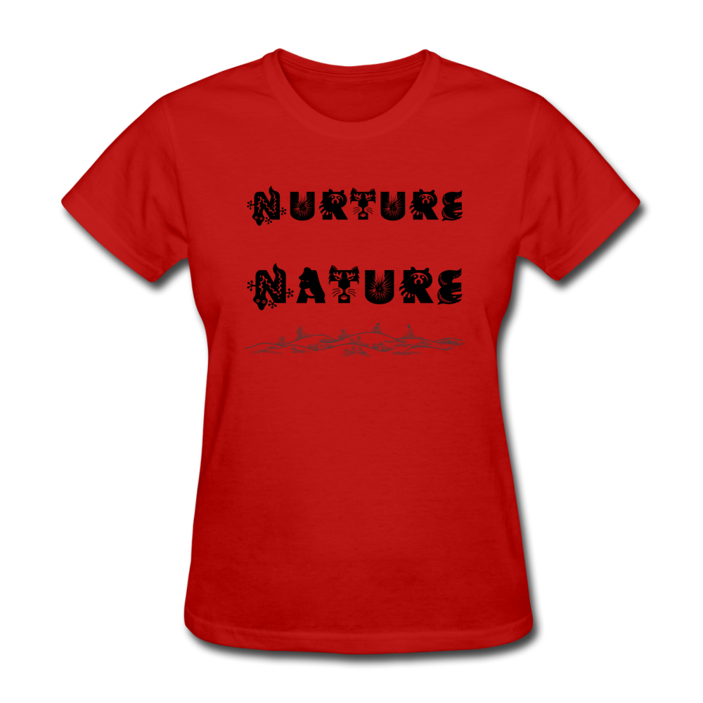 Nurture Nature Tee - red