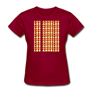 Los Angeles Tee - dark red