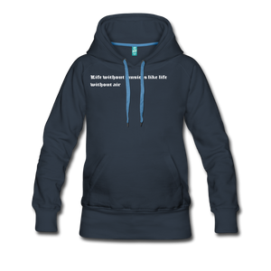 Life without music is like life without air hoodie - navy
