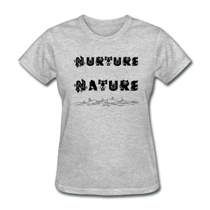 Nurture Nature Tee - heather gray