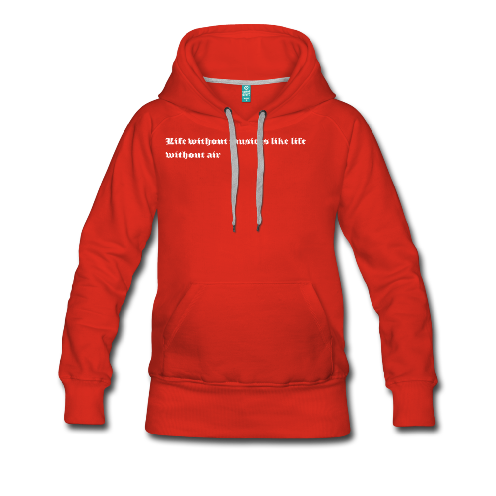 Life without music is like life without air hoodie - red