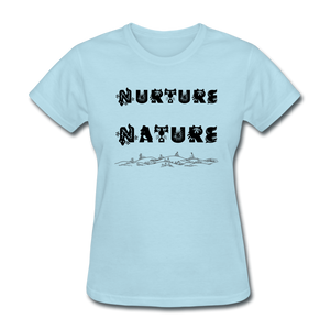 Nurture Nature Tee - powder blue