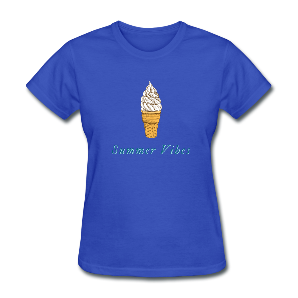 Summer Vibes Ice Cream Tee - royal blue