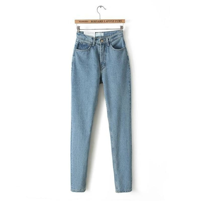 High Waist Denim Jeans Women's Pants - Fashion - Lilah