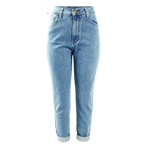 1886 High Waist Washed Denim Jeans
