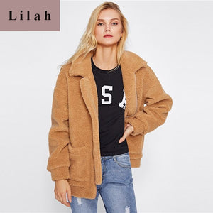 Camel Drop Shoulder Oversized Coat