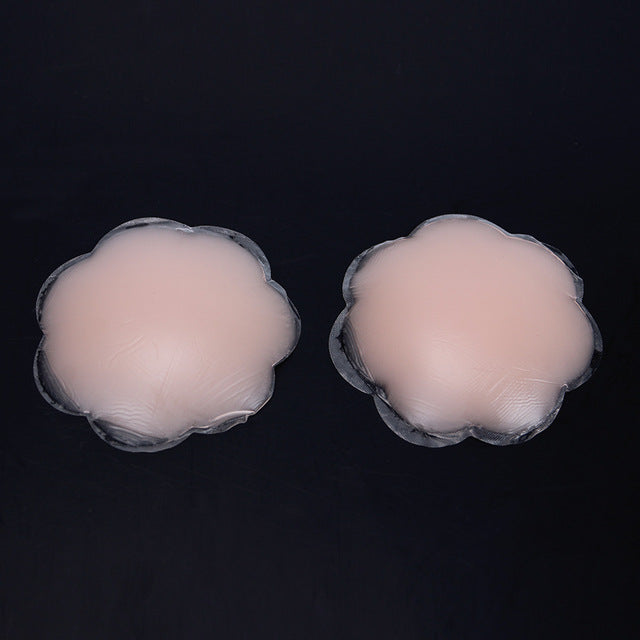 Reusable Flower Nipple Cover Bra Pad Invisible Breast for Part 1 Pair Silicone N