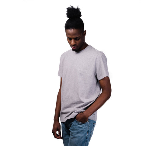 Maison Labiche Heavy Tee Old School   Heather Grey