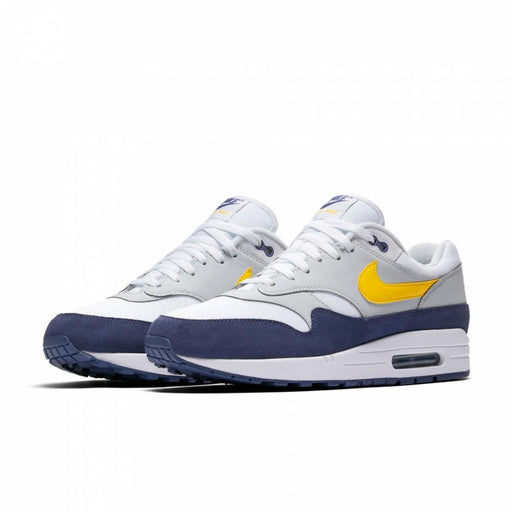 Air Max 1 White/Tour Yellow-Blue Recall