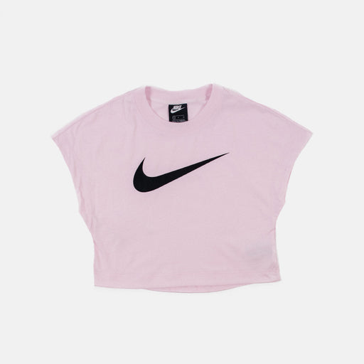 NSW Swoosh Crop Top Pink Foam/Black Womens